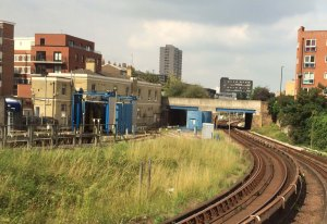 Docklands Light Railway, Poplar, 4 September 2014.