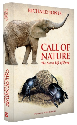 Elephant trumpeting = calling; there's a visual pun thing going on here too.